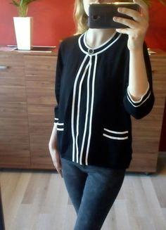 Kup mój przedmiot na #vintedpl http://www.vinted.pl/damska-odziez/bluzki-z-3-slash-4-rekawami/14865394-komplet-a-la-chanelka-biala-lamowka