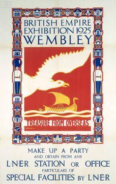 British Empire Exhibition Wembley 1924-25. Transport Map, London Transport, Public Transport, Posters Uk, Railway Posters, Graphic Illustration, Illustrations, British Travel, London Underground
