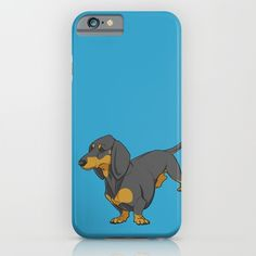 Black & Tan Smooth Dachshund iPhone Case