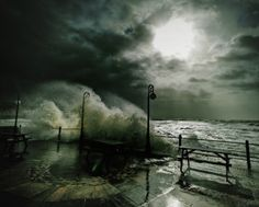 Stormy weather at Freshwater Bay, Isle of Wight, UK by Jason Swain