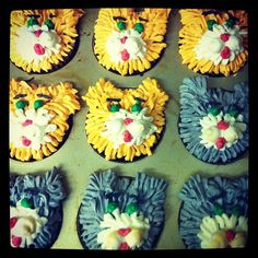 Kitty Cat Cupcakes - Carrot cake with vanilla buttercream frosting