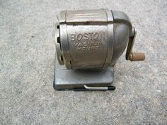 Pencil Sharpener / Boston / Office Tools by assemblage333 on Etsy, $24.00