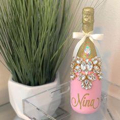 Birthday Girl by Champagne Birthday, Pink Birthday, 25th Birthday, Birthday Parties, Quinceanera Planning, Quinceanera Decorations, Gold Wedding Decorations, Champagne Bottles, Wine Bottle Crafts
