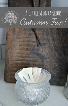 Autumn Fun Activity that's unscheduled!