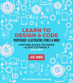 betype:  LAST MINUTES +5,000 Tutorials in Adobe Software: Lifetime Access 97% off. Train Simple have an amazing portfolio of more than 5,000 tutorials where you can completely learn Adobe's design and Web development software including Acrobat, Photoshop, Illustrator, InDesign, Flash, Fireworks, Dreamweaver, Edge Animate, Muse, Fireworks and more.You can even take lessons on Web technology like HTML5, CSS3, JavaScript, WordPress and more. Now with this huge discount you can have access to…