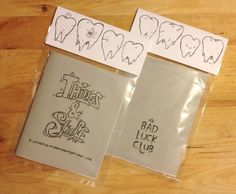 zine -- love the idea of putting it in a plastic bag.