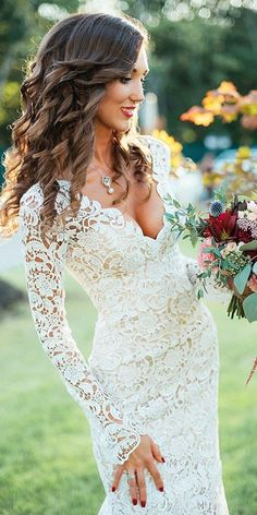 30 Stunning Long Sleeve Wedding Dresses For Brides ❤ long sleeve wedding dres. - 30 Stunning Long Sleeve Wedding Dresses For Brides ❤ long sleeve wedding dresses sheath full lac - Boho Wedding Dress With Sleeves, Top Wedding Dresses, Wedding Dress Trends, Long Sleeve Wedding, Bridal Dresses, Wedding Gowns, Maxi Dresses, Engagement Dresses, Stunning Wedding Dresses