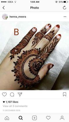 Beautiful and Stylish Henna Mehndi Designs for Hand - Kurti Blouse Mehndi Designs Finger, Basic Mehndi Designs, Henna Hand Designs, Mehndi Designs For Girls, Mehndi Designs For Fingers, Latest Mehndi Designs, Henna Tattoo Designs, Mehandi Designs, Heena Design