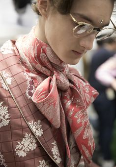 Backstage at the Gucci Fall Winter 2017 Fashion Show