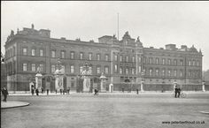 Buckingham Palace before it was refaced by King George V and Queen Mary.