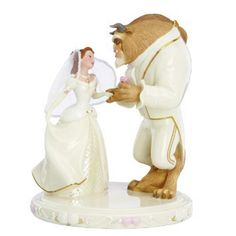 Beauty and the beast wedding cake topper