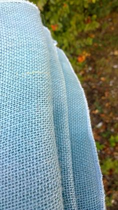 "30"" x 156"" Billow Burlap Tablecloth. Comes with serged edges. Looks like the lovely blue sea."