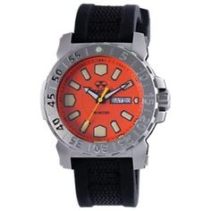 Reactor Meltdown 2 Sports Watch for Men with Gryphon Strap - Orange