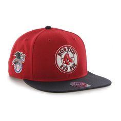 Boston Red Sox 47 Brand Red Navy Sure Shot 1976 Adjustable Snapback Hat Cap baf3a7263a