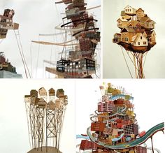 Amy Casey: Painter of Precarious Fantasy Buildings & Worlds | Urbanist