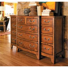 Harden 1613 Cabinetmakers Cherry Bitteroot Mule Chest available at Hickory Park Furniture Galleries
