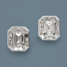 Glamorous 9.58 Carat Total Emerald Cut Diamond Earrings $48,000.00