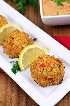 Paleo Cajun Crab Cakes with Remoulade Sauce - Paleo Fondue