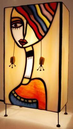 lámpara de sobremesa de vidrio vidrio,estaño,cobre tiffany: