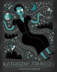 """rachelignotofsky: """" Katherine Johnson is a physicist, space scientist, and NASA mathematician. She calculated the flight path for the Apollo mission to the moon. Katherine has worked on NASA's mercury missions, space shuttles, and plans for the. Moon Missions, Apollo Missions, Spot Illustration, Nature Illustrations, Science Illustration, Nasa, Katherine Johnson, Posca Art, Mission To Mars"""