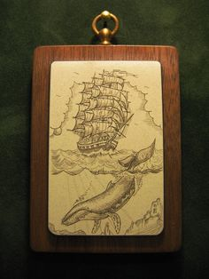 Scrimshaw Drawings | Whaling ship-scrimshaw by nosohoma