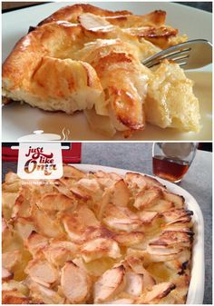 German Apple Pancake -- made in the oven, covered in apples, and puffs up beautifully! Check out the recipe at http://www.quick-german-recipes.com/german-apple-pancake-recipe.html