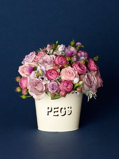 Vintage Rose Enamel Bucket | Shop | Hayford and Rhodes award-winning florist