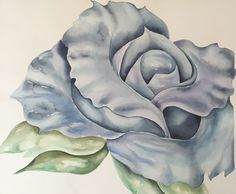 Blue Rose - Watercolor on Archival Paper, visit my FB page to see more