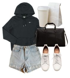 """""""Untitled #6205"""" by laurenmboot ❤ liked on Polyvore featuring NIKE, American Apparel, MANGO MAN and H&M"""