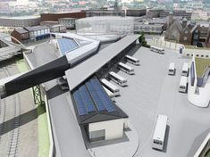 Architecture Concept Diagram, Green Architecture, Futuristic Architecture, Amazing Architecture, Architecture Design, Architecture Models, Bus Station, Train Station, Bus Stop Design