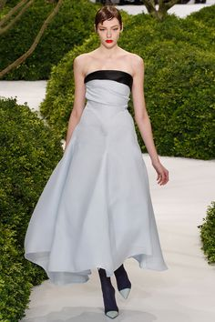 Christian Dior — Spring 2013 Couture. Love the combination of colored tights and contrasting shoe toes in this collection!
