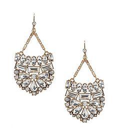Belle Badgley Mischka Mosaic Crystal Stone Statement Earrings #Dillards