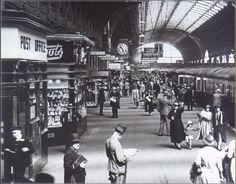 It is nearly 10.30 on a June morning in 1935 and the Cornish Riviera Express is about to depart from platform I at Paddington. Most people in this busy photograph are not catching the train but are walking along the platform or looking at the shops. There is a post office, a branch of Boots the Chemist, a tobacconist and, farther on, a confectioner, a bookstall and a hairdressing salon. Signs advertising these retail outlets are much the same as those advertising railway services.