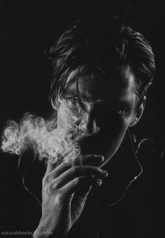 Benedict Cumberbatch by naturalshocks. (Art, art. Gorgeous art. No idea which category to pin it in, but bloody hell its pretty.)