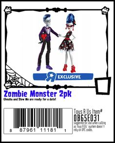 Tous R Us, Monster High Ghoulia, Monster High Boys, Zombie Monster, Dolls, Memes, Collection, Baby Dolls, Puppet