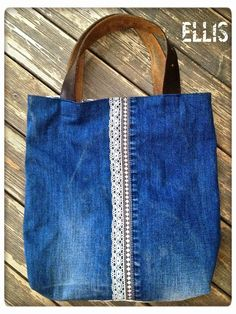 Modelle der alten Jeans – Miya Pak – – Mo… Models of the old jeans – Miya Pak – – Models de Couture Cuir, Diy Sac, Denim Handbags, Diy Bags Purses, Denim Purse, Denim Crafts, Fabric Bags, Handmade Bags, Diy Fashion