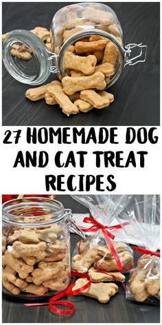 Did you know that it can be easy to DIY your own homemade dog treats? Cat treats, too! This list has recipes for several kinds including better breath treats, healthy treats, grain free treats, frozen Dog Biscuit Recipes, Dog Treat Recipes, Dog Food Recipes, Homemade Dog Toys, Homemade Dog Cookies, Homemade Biscuits, Homemade Halloween, Pumpkin Dog Treats Homemade, Pumpkin Recipes For Dogs
