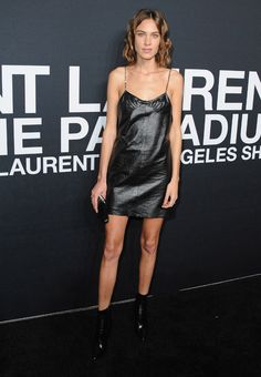 Alexa Chung au défilé Saint Laurent à Los Angeles http://www.vogue.fr/mode/inspirations/diaporama/les-looks-de-la-semaine-fvrier-2016/25432#alexa-chung-au-dfil-saint-laurent-los-angeles