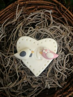Bride and Groom Love Birds Wedding Favor  Magnet  by LuckyTrinket, $3.00