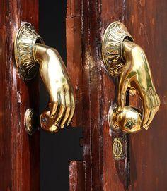 beautiful door knobs | bigstock door handle knocker