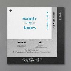 Layer It On in White Wedding Invitation