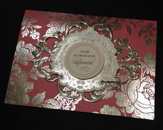 Deep Pink Card with Lots of Silver Foil Splendor and Anna Griffin Papers