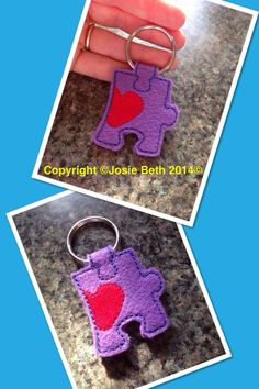 Autism puzzle key ring.