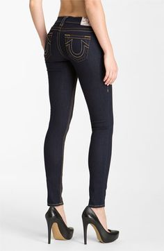 True Religion Brand Jeans 'Casey' Skinny Stretch Jeans (Body Rinse) available at Nordstrom