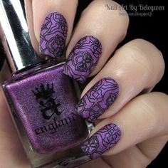 Nail Art by Belegwen: A England Crown of Thistles