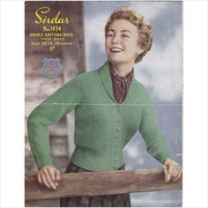 e710e0351 1434 Vintage Sirdar Knitting Pattern Lady s Shawl Neck Cardigan DK 34-38
