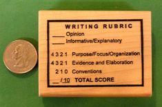 Writing Rubric. Handsome wood mounted image. Wood mounts are edged and tung oiled to resist stains. organize and edit student writing processes. All rubber images are trimmed for stamping clarity. | eBay!