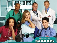"""Scrubs- I love this show. It follows John """"JD"""" Dorian as he manages his residency at Sacred Heart."""