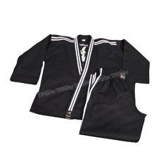 """Do-Smai Hapkido Elbisesi HK-120 - 230 gr/m² pamuk+polyester siyah gabardin dokuma kumaştan imal edilmiştir.  130-190 arası 10 ar cm. arayla 7 beden.  Sırtta """"HAPKİDO"""" nakışlı,yaka,kol ve pantolon yanlarında  beyaz şerit vardır.  Kuşaklı - Price : TL116.00. Buy now at http://www.teleplus.com.tr/index.php/do-smai-hapkido-elbisesi-hk-120.html"""