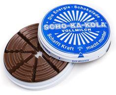 Scho-ka-kola Schokakola energy chocolate -MILK g - 1 can: Made in Germany 100 g 1 can per order Candy Recipes, Gourmet Recipes, Chocolate Names, G 1, Hiking Backpack, Go Camping, Backpacking, Espresso, Chocolates